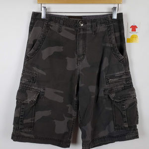 No Boundaries Mens Camouflage Cotton Cargo Shorts